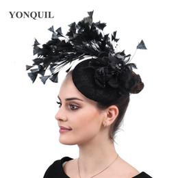 Clip Hair Black Australia - Vitage black wedding fascinators hats elegant women party chapeau caps ladies hair accessories bridal married headwear clips