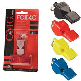 Großhandel FOX 40 Offizieller Schiedsrichter Klassische Pfeife Dienstprogramm Fußball Fußball Basketball Sportpfeife Fox 40 Pfeifen Zubehör EDC Gear M64R