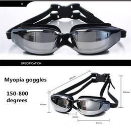 Toptan-Miyop yarış Gözlük kaplama miyopi Ve kutu ambalaj gözlük yüzme Su Sporları Yüzme Su geçirmez HD buğu önleyici gözlük gözlük
