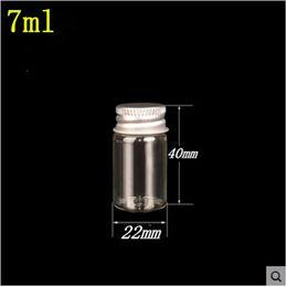 $enCountryForm.capitalKeyWord Australia - 100 pcs 22x40 mm 7 ml Aluminum Screw Cap Small Glass Bottles Wishing Stars Bottles Travel Convenience Cosmetic Mini Vials