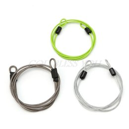 Discount cycling u - 100cm x 2mm Cycling Sport Security Loop Cable Lock Bikes Bicycle Scooter U-Lock