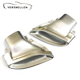 $enCountryForm.capitalKeyWord Australia - 2pcs Car Steel Exhaust Trims Muffler Tip Tail and the Exhaust Tips For Mercedes Benz C class 2015-2017 All models Replace the original