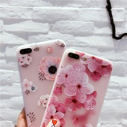 iphone plus case floral NZ - New Flower Pattern Case For iPhone XS MAX XR Case Soft Silicone Floral Protect Soft Full Cover For iPhone 6 6S 7 8 Plus X Phone Cases