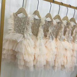 8671739b8352f9c High-end Baby Girl Dress новая вышивка цветы Принцесса Детские платья для  девочек летняя мода дети кружевном платье детская юбка