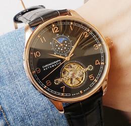 $enCountryForm.capitalKeyWord Australia - 2019 Black Leather Luxury Fashion Mechanical Men's Tourbillon Moon phase Automatic Movement designer Watch mens Self-wind Watches wristwatch