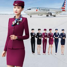 $enCountryForm.capitalKeyWord NZ - 2 Pieces Set Long Sleeve Formal Blazer Pants Suit Office Lady Uniform Designs For Women Business Suit Work Wear Set New 2019 W97