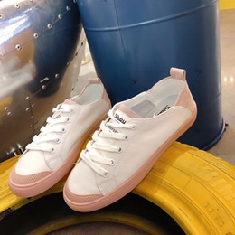skate clothes women NZ - Pop2019 Two Shoe One Clothes Small White Woman Genuine Leather Motion Casual Pink Colour Flat Bottom Skate Shoes