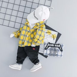 Full Baby Suits NZ - 2019 Spring Baby Boys Clothing Toddler Children Clothes Suits Full Sleeve Plaid Shirt Pants 2Pcs Sets Casual Kids Infant Costume