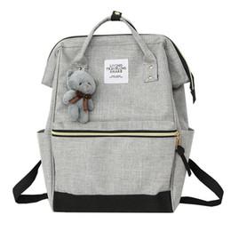 $enCountryForm.capitalKeyWord UK - 2019 New Women Bear Backpack Preppy Style Hand Back Bag Oxford Cloth Travel School Shoulder Bags for Girls Mochila Feminina