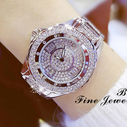 Silver Luxury Watches Diamond Women Australia - 2017 New Luxury Women Watches Diamond Top Brand Elegant Dress Quartz Watches Ladies Wristwatch Relogios Femininos Y19052201