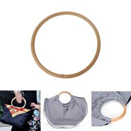 1 x Round Bamboo Rattan Bag Handle for Handcrafted Handbag DIY Bags  Accessories Good Quality 15x15cm b0413689fd4a6