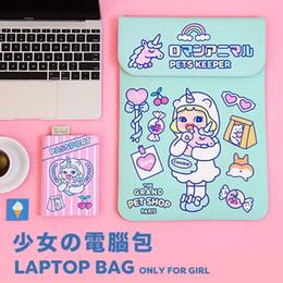 Travel Business Case Australia - Bentoy Milkjoy Girls Beauty Unicorn Handbag 15 13 12inch Travel Business Women Laptop bag Waterproof Velvet Mac ipad Case Holder #92830