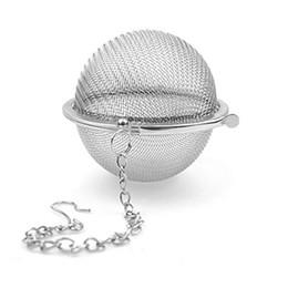 Discount tea filler - Stainless Steel Tea Pot Infuser Sphere Mesh Tea Strainer Filler Ball Strainer Ball 6.5cm DHL Free DHL 431