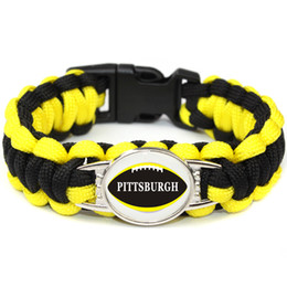 $enCountryForm.capitalKeyWord Australia - American Athletics LEAGUE Pittsburgh football teams survival paracord bracelets bangles for fans gifts