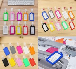 plastic travel bag tags UK - Luggage Tag Suitcase Travel Bag Label Holder Name Card Straps Suitcase Name Pet Tags Pendant Handbag Travel Accessories Name