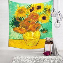 Sunflower curtainS online shopping - Sunflower Wall decoration background cloth tablecloth door curtain beach towel blanket beach shawl sun protection A06