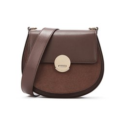 synthetic saddle NZ - Fashion Chic Ins Small Tess Saddle Handbag Genuine Leather Drew Purse Crossbody Shoulder Satchel For Women