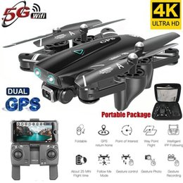 video rc UK - S167 GPS Drone With Camera 5G RC Quadcopter Drone 4K WIFI FPV Foldable Off-Point Flying Gesture Photos Video Helicopter Toy T191223
