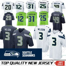 Fans 12 online shopping - Seattle Shaquem Griffin Seahawk Jerseys Rashaad Penny Russell Wilson Fan Earl Thomas Kam Chancellor Sherman Lockett
