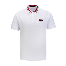 floral polo UK - Brand New Men's Polo Shirts Fashion Classic Harajuku Casual Polo T Shirts High Street Clothes Designer Little Embroidery Mens Polos Shirt