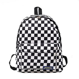 back packs teenager Australia - 2019 Hot Sale Women Men Unisex Lattice Backpack New Trend Checkerboard Teenager School Bag Couples Back Pack Travel Bag Y19051502