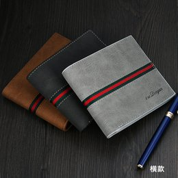 Wholesale Casual Man Wallets Leather Solid Luxury Wallet Men Pu Leather Slim Bifold Short Purses Credit Card Holder Business Male Purse