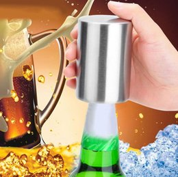 $enCountryForm.capitalKeyWord Australia - Magnetic Automatic Beer Bottle Opener Stainless Steel Magnet Jar Opener Kitchen Bar Accessories Wine Can Openers Free Shipping