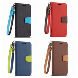 $enCountryForm.capitalKeyWord Canada - Wallet Leather For Samsung S10 S10e S10 Plus M20 M10 Fancy Diary Hit Dual Color Hybrid Flip Cover Magnetic ID Card Slot Pouch Lanyard Luxury