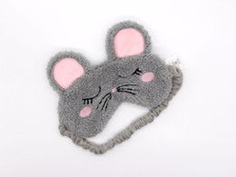 travel accessories wholesale UK - Mouse Sleep Masks Adults Cartoon Plush Cute Rest Eye Mask Shade Cover Travel Lunch break Relax Accessories