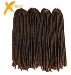 $enCountryForm.capitalKeyWord Australia - 18inch Soft Dreadlocks Crochet Braids Jumbo Dread Hairstyle Ombre Color Synthetic Faux Locs Braiding Hair Extensions
