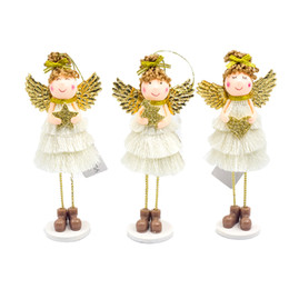 doll girl Australia - Cute Angel Wings Girl Doll Ornament Christmas Tree Pendant Desk Decor Xmas New Year Christmas Decorations for Home Kids Gift