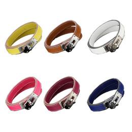 $enCountryForm.capitalKeyWord Australia - 2019 New Stainless steel leather designer bracelet for women man Valentine's Day love designer leather jewelry for women man