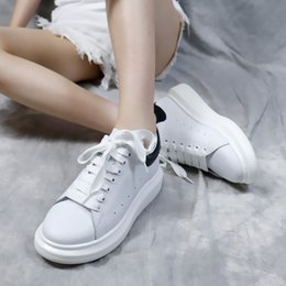Casual Leather Soled Shoes Women Australia - 2019 New Season Designer Shoes Fashion Luxury Women Shoes Men's Leather Lace Up Platform Oversized Sole Sneakers White Black Casual Shoes