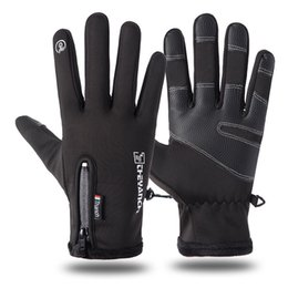Motorcycle fitness online shopping - 2019 the high quality designer foreign trade new men s waterproof riding gloves plus velvet thermal fitness motorcycle gloves