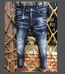 Blue Cotton Men Australia - 2019year free delivery Fashion Men Jeans Mens Slim Casual Pants Trousers Light Blue Fit Loose Cotton Jeans For Male European size
