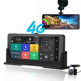 motion detection mirror camera UK - E07 4G Car Dvr Camera ADAS Android Auto register With GPS Navigation Full HD 1080P Video Recorder Two Cameras Vehicele