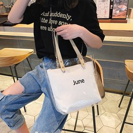 Best Sale Handbags Australia - Transparent Large-capacity Single Shoulder Bag Handbag 2 Pieces Set Bag for Women Best Sale-WT