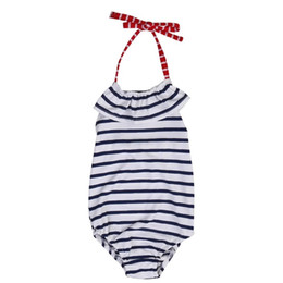 swimming belts NZ - 2019 Striped O-Piece Cute Swimsuit For Girl Toddler Belt Swimwear Swim Beach Outwear children Bathing Bikini Baby Girl Clothes