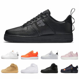71cccdce03 2019 zapatos para correr 1 para hombre mujer Dunk Utility de calidad  superior blanco negro naranja trigo alto bajo para hombre zapatillas  deportivas ...