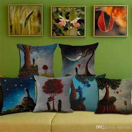 Pillowcase Dream NZ - Dreaming Forest heart butterfly sky pillow Case Cushion cover Pillowcase Cover Square linen cotton soft pillowslip beddng sets 240515