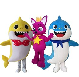 $enCountryForm.capitalKeyWord NZ - Professional custom Baby Shark Mascot Costume Cartoon Character Mascot Clothes Christmas Halloween Party Fancy Dress