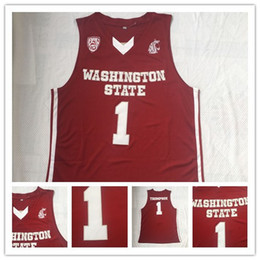 739be99ffe8 NCAA Mens Basketball Washington State Cougars Klay Stitched Thompson College  Basketball Jerseys Cheap Red #1 Thompson Stitched Klay Shirts