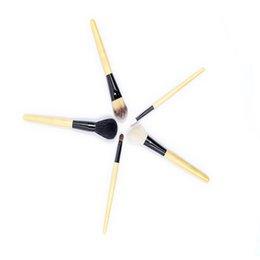 $enCountryForm.capitalKeyWord NZ - 5 bamboo handle makeup brush set eye shadow foundation liquid eyeliner eyelash lip gloss makeup brush beauty tool multi-purpose foundati