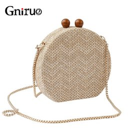 $enCountryForm.capitalKeyWord Australia - Fashion Women Messenger Bags Knitted Vintage Day Clutches Evening Bags Woven Chain Shoulder Crossbody Handbag Purse #652104
