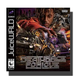 Wholesale L945 JuiceWRLD Death Race For Love Cover Silk Cloth Poster Wall Picture Decoration Room12x12 24x24in