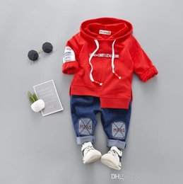 Childrens Red Tutus Australia - Bestselling new childrens clothes 2020 Spring and Autumn New Style Mens baby two piece long sleeved suit boy and girl Sweater 1-4T