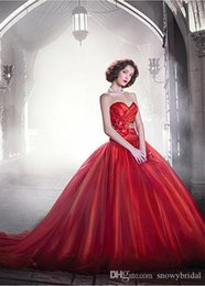 $enCountryForm.capitalKeyWord NZ - Red Ball Gown Organza Simple Vintage Gothic Wedding Dress With Color Sweetheart Corset Back Non White Bridal Gown Custom Made