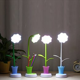 small desk lights 2020 - New Sunflower Folding table lamp LED Charging Desk Lamp Support Eye Protection Small Desk Folding USB desk light Reading