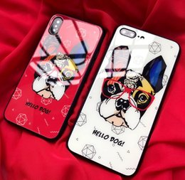 $enCountryForm.capitalKeyWord NZ - New Creative Cartoon Pattern Shockproof Tempered Glass Cell Phone Case Mirror Protective Covers For iPhone X XR XS MAX 6 6S 7 8 PLUS DHL