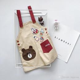 $enCountryForm.capitalKeyWord Australia - Fall Newest High Quality INS Toddler Kids Boys Girls Overalls Bear Ice Cream Embroidery Summer Jumpsuits Children Girls Clothing Suspender